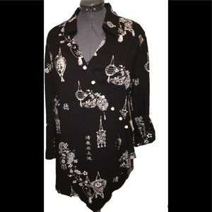 Soft Surroundings Asian inspired L top
